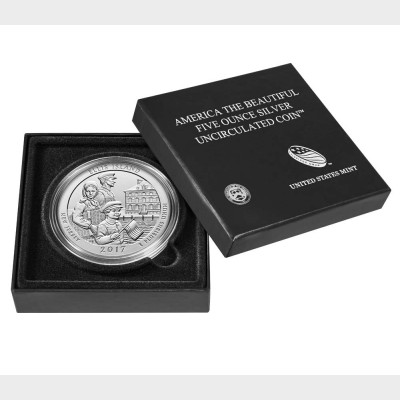 2017 Ellis Island Uncirculated Five Ounce Silver Coin