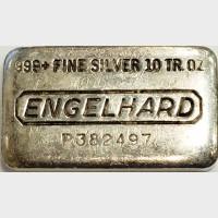 Engelhard Poured 10 oz Silver Bar