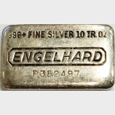 Engelhard Poured 10 oz Silver Bar