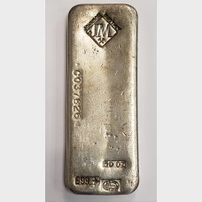 Johnson Matthey Silver 50 ozt Bar