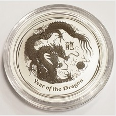 2012 Australia Year of the Dragon Silver 1/2 oz Coin