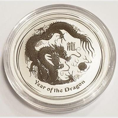 2012 Australia Year of the Dragon Silver 1/2 oz Coin