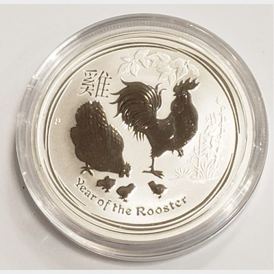 2017 Australia Year of the Rooster Silver 1/2 oz Coin