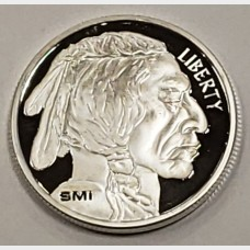 SMI (Sunshine Minting) Buffalo Silver Round (1 ozt)