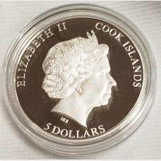 2011 Cook Islands Meteorite Muonionalusta Silver $5 Coin