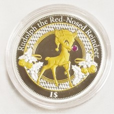 2016 Republic of Kiribati Silver Proof Rudolph the Red-Nosed Reindeer Coin