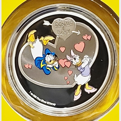 2016 Silver 1 oz Donald Daisy Duck Niue Proof Coin