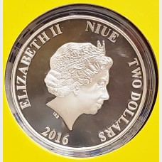 2016 Silver 1 oz Donald Daisy Duck Niue Proof Coin