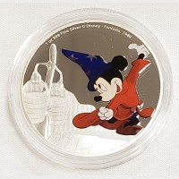 2017 Silver 1 oz $2 Disney Mickey Mouse Fantasia Proof Coin