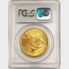 1908 $20 Gold Saint Gaudens Coin PCGS MS64 No Motto