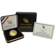 2013 5-Star Generals Commemorative $5 Gold Coin BU