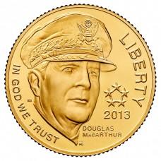 2013 5-Star Generals Commemorative $5 Gold Coin BU
