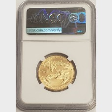2020 American Gold Eagle (1/2 ozt) $25 NGC MS70 Don Everhart