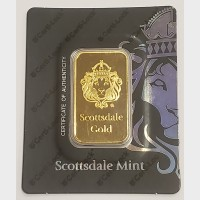 1 oz Scottsdale Gold Bar (w/ Assay)