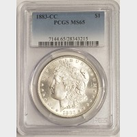 1883-CC Morgan Silver Dollar PCGS MS65