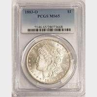1883-O Morgan Silver Dollar PCGS MS65