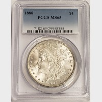 1888 Morgan Silver Dollar PCGS MS65