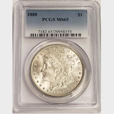 1888 Morgan Silver Dollar PCGS MS65