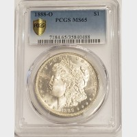 1888-O Morgan Silver Dollar PCGS MS65