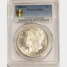 1888-O Morgan Silver Dollar PCGS MS65