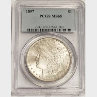 1897 Morgan Silver Dollar PCGS MS65