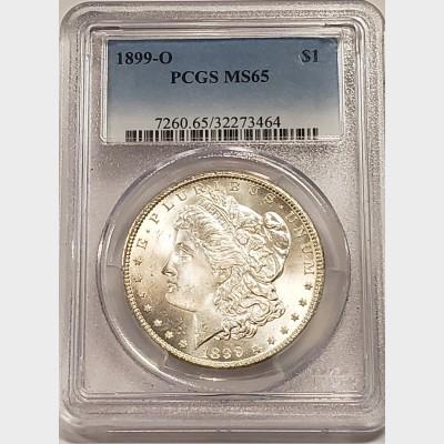1899-O Morgan Silver Dollar PCGS MS65