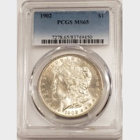 1902 Morgan Silver Dollar PCGS MS65
