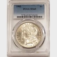 1902 Morgan Silver Dollar PCGS MS65