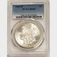 1902-O Morgan Silver Dollar PCGS MS65
