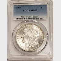 1903 Morgan Silver Dollar PCGS MS65