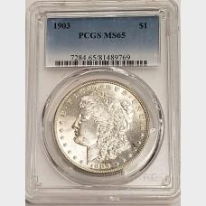 1903 Morgan Silver Dollar PCGS MS65