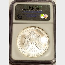 2006 W Silver American Eagle NGC MS69