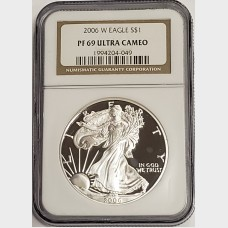 2006 W Silver American Eagle Proof NGC PF69 UCAM