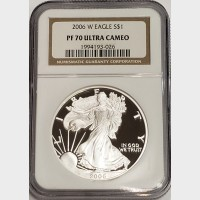 2006 W Silver American Eagle Proof NGC PF70 UCAM