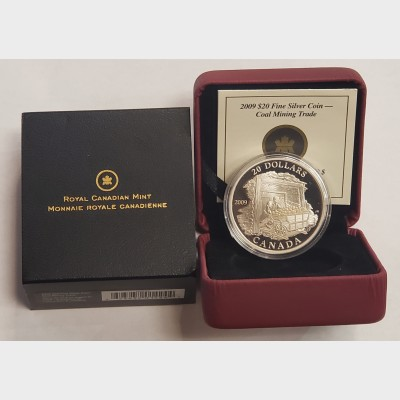 2009 $20 Silver Coal Mining Trade Coin