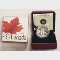 2013 $10 O Canada Series Inukshuk $10 1/2 oz Silver Coin