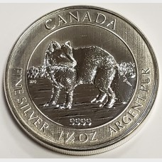 2014 Canada 1.5 oz Silver $8 Coin Arctic Fox Wildlife Series