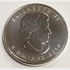 2014 Canada 1.5 oz Silver $8 Coin Arctic Fox Wildlife Series