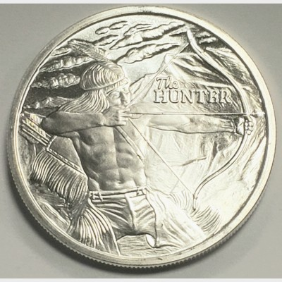 2017 The Hunter Silver 1 ozt Round