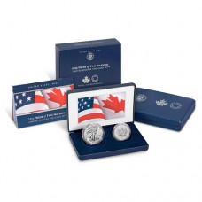 2019 US Mint Pride of Two Nations Silver 2-Coin Set w/Box & COA
