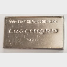 Engelhard Poured 100 oz Silver Bar