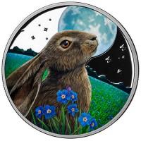 Lisa Parker Colorized Moon Gazer 5 oz Silver Proof LE Round w/COA