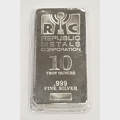 Republic Metals Corporation RMC Silver 10 ozt Bar