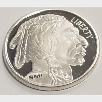 Sunshine Mint SMI Silver Buffalo Proof Round 1 ozt