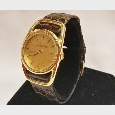 "Jaeger LeCoultre ""Etrier"" 18K Gold Watch"