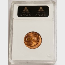 1999 Lincoln Cent Off-Center Penny ANACS MS66 Red