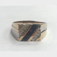 10 K Yellow Gold Men's Ring