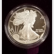 1987-S Silver American Eagle 1 Ounce Proof Bullion Coin