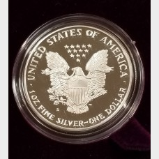 1989-S Silver American Eagle 1 Ounce Proof Bullion Coin