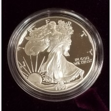 1990-S Silver American Eagle 1 Ounce Proof Bullion Coin